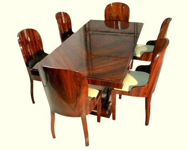 Esstisch 6 Stuhle Art Deco Nachbau Die Kunst Und Antiquitatenborse